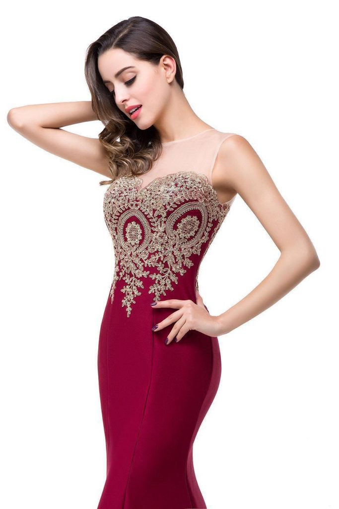 best women apparels prom dresses mermaid side