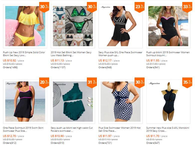 swimwear aliexpress nayooton store